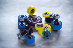 In Stock Urethane Covered Bearings for Smooth, Quiet and Non-Marring Operation