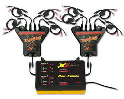 Charger Kit maintains 8 lead-acid batteries simultaneously.
