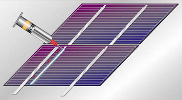 Jettable Conductive Adhesive is suited for PV stringing, bussing.