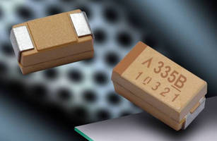 Tantalum Polymer Chip Capacitors come in 100 and 120 V variants.