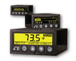 Panel Meter provides temperature and process measurement.