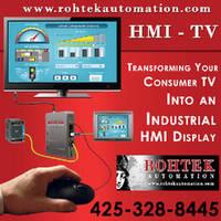 Human Machine Interface turns TV into industrial HMI display.