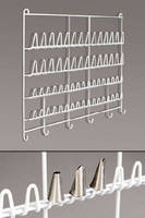 Storage Rack organizes bakery decorating tips.