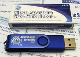 Whitehouse Scientific Sieve Aperture Size Calculator Now on Flash Drive
