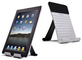 Portable Folding Stand supports tablets and smartphones.