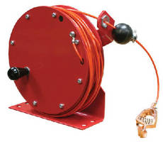 Static Discharge Cable Reel features manual rewind.