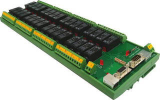 Industrial Relay Controller incorporates AC monitoring input.