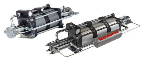 Gas Boosters deliver pressures up to 36,000 psi.