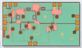 GaAs MMIC Low Noise Amplifier covers 33-45 GHz applications.