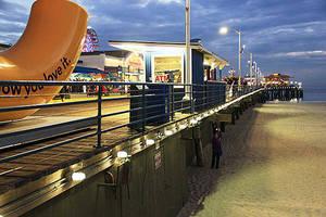 LEDtronics Adds Energy Saving - Long Life LED Lights on Santa Monica Pier and Carousel Building