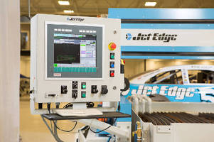 Water Jet System cuts taper-free and beveled parts.