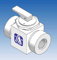 PTFE Ball Valve features max operating pressure of 60 psig.