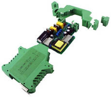 PCB Component Housings have DIN rail mount design.