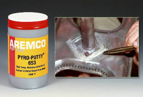 Thixotropic Paste repairs corrosion defects to 2,000°F.