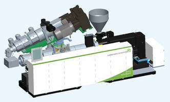 Compact Extruder Combination has piggyback configuration.