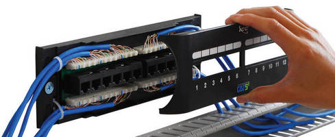 Front Access Patch Panels are suited for tight spaces.