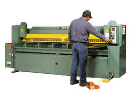 Hydraulic Shear handles material up to 1/4 in.