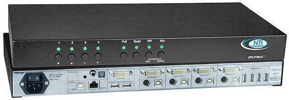 Quad Screen Splitter with KVM Switch offers real-time video.