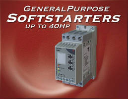 General Purpose Softstarters - up to 40HP -