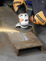 Abrasive Grinding Wheel removes mill scale.