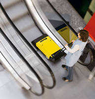 Escalator Cleaning System cleans up to 1,800 stairs per hour.
