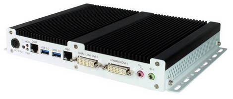 Fanless Digital Signage Player supports 2 independent HD displays.