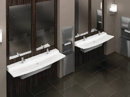 Lavatory System suits upscale commercial restrooms.