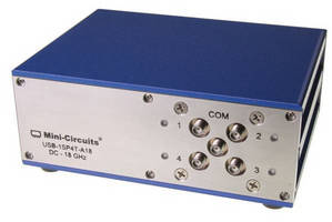 Single-Pull 4-Throw Switch Matrix covers DC to 18 GHz band.
