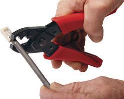 External Ground Crimp Tool performs 360 degree crimps.