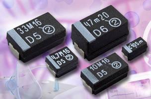 Solid Tantalum Chip Capacitors offer Weibull grading.