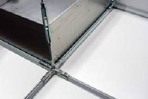 Cleanroom Ceiling System supports fan filter units.