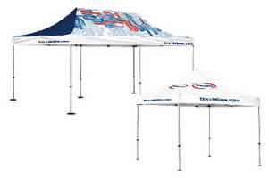 Commercial-Grade Advertising Tents come in 3 sizes.