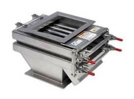 Magnetic separators remove accumulated fine iron contamination.