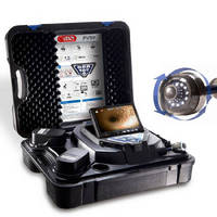 Portable Videoscope features pan and tilt color camera head.