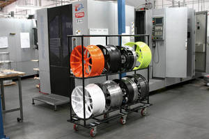 Custom Performance Wheel Manufacturer Uses Creform Carts to Safely Move Products Through Production