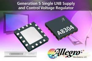 Single LNB Regulator serves satellite receiver applications.