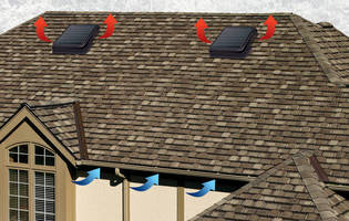 Solar Roof Vent carries 750 cfm max airflow rating.