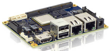 Pico-ITX Motherboard aids ARM-based SFF appliance development.