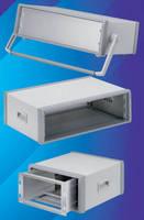 Aluminum 19 in. Instrument Enclosures accept 3U equipment.