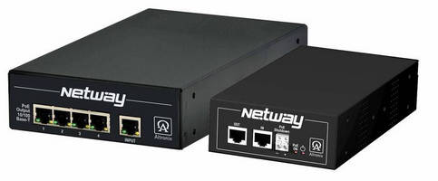 Altronix New NetWay(TM)4ESK Kit Accommodates up to Four PoE Devices over a Single Structured Cable