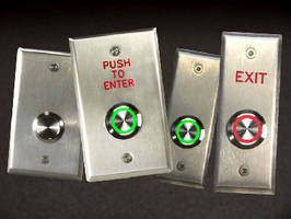 Exterior Push Button Switches feature weatherized design.