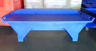 Industrial Work Table comes in mobile and stationary designs.