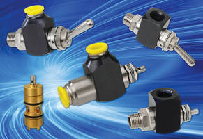High-Flow 2- and 3-Way Poppet Valves include cartridge style.