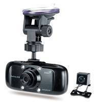 Dual-Camera DVR System captures video ahead of and behind car.