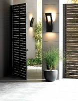 LED Luminaire complements modern architecture.