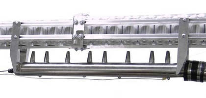 Air Rinsing/Static Removal System removes dust and particulates.