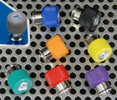 Captive Access Panel Screws are available with color knobs.