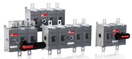 Modular 2-Pole Disconnect Switches achieve 1,000 Vdc rating.