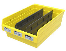 Plastic Storage Bins feature wide hopper front for easy access.