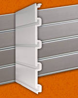 Interlocking Aluminum Slatwall System has heavy-duty design.